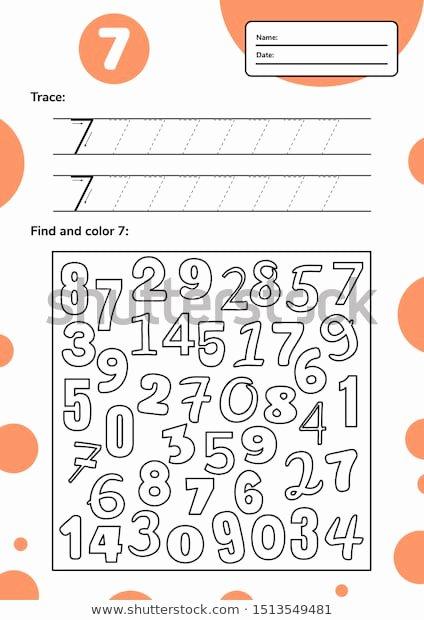 School Worksheets for Preschoolers top Educational Worksheet Preschool School Kids Number Stock