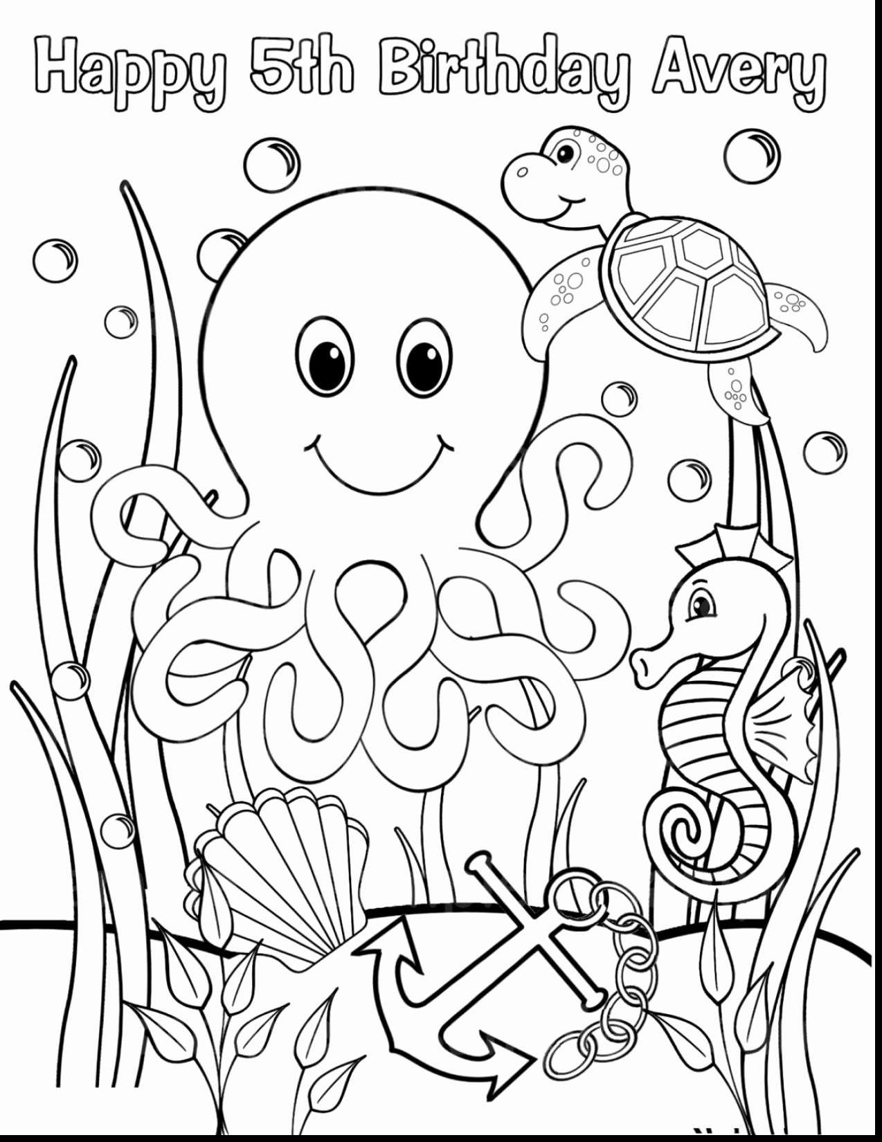 Sea Animals Worksheets for Preschoolers Fresh Sea Animals Coloring to Print at Getdrawings Free for Kids