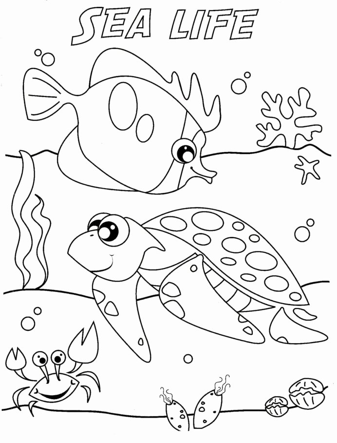 Sea Creatures Worksheets for Preschoolers Beautiful Life Coloring to and Print for Free Sea Math toddlers