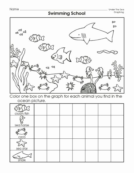 Sea Creatures Worksheets for Preschoolers New Cut Out Graph Sea Creatures Worksheets