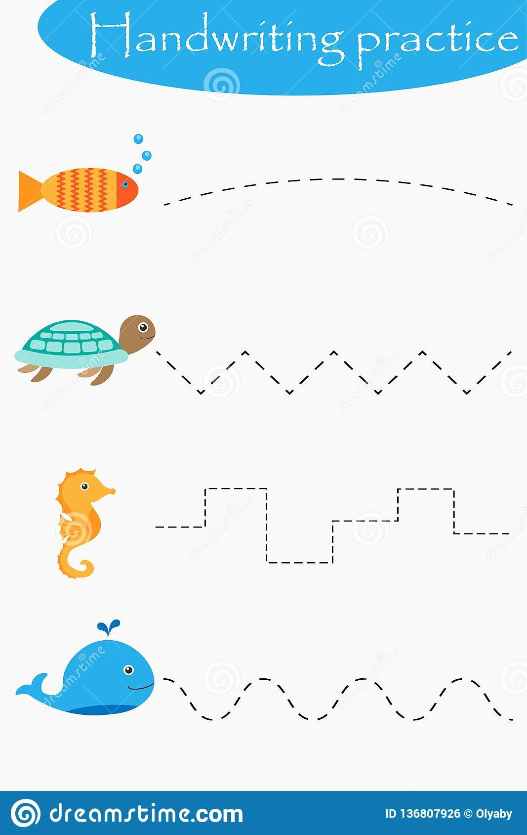 Sea Creatures Worksheets for Preschoolers New Ocean and Sea Animals Wheel Fish Turtle Seahorse