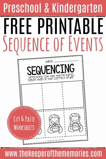 Sequencing events Worksheets for Preschoolers Lovely Free Printable Sequence Of events Worksheets