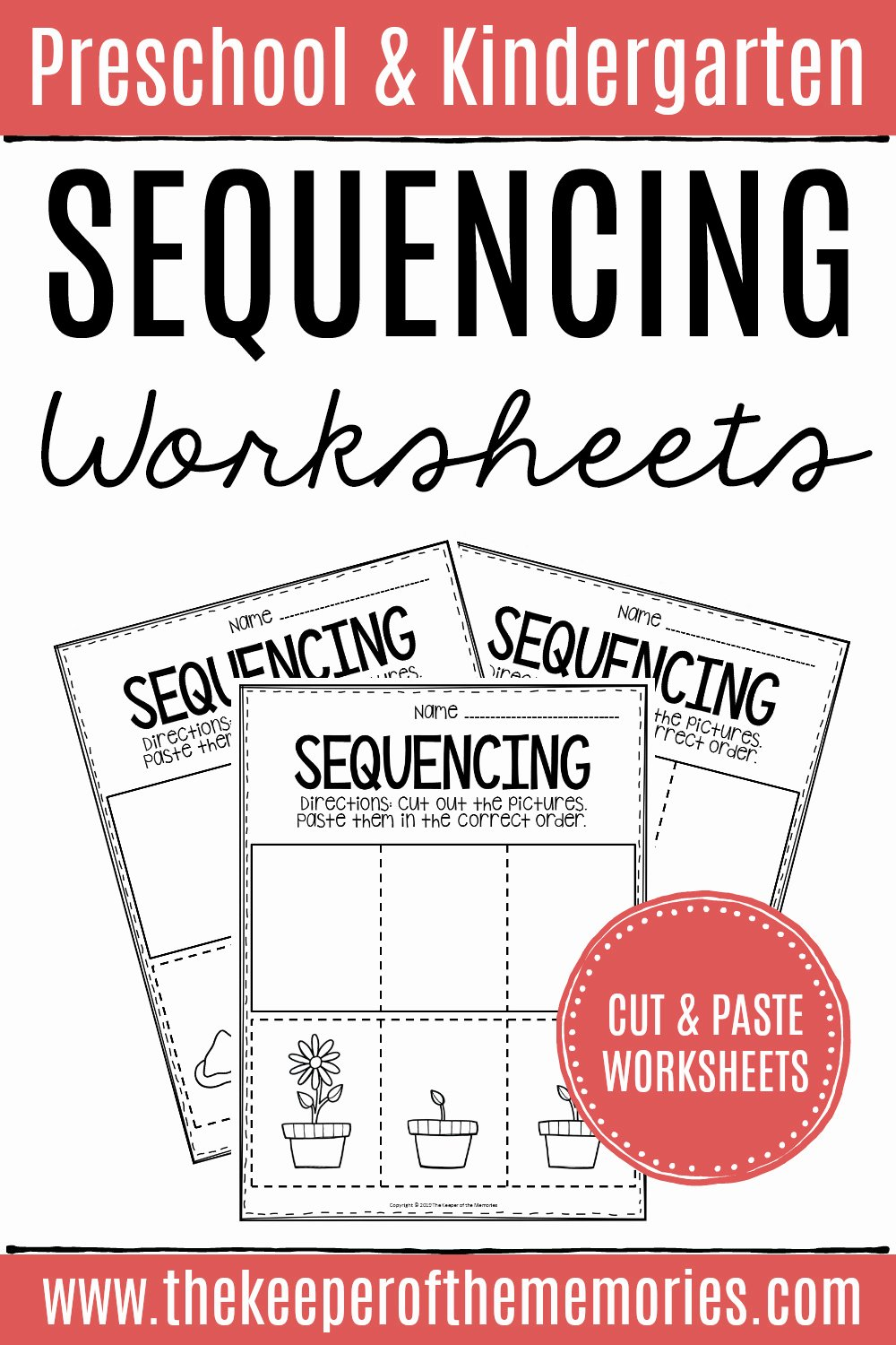 Sequencing events Worksheets for Preschoolers Unique 3 Step Sequencing Worksheets the Keeper Of the Memories