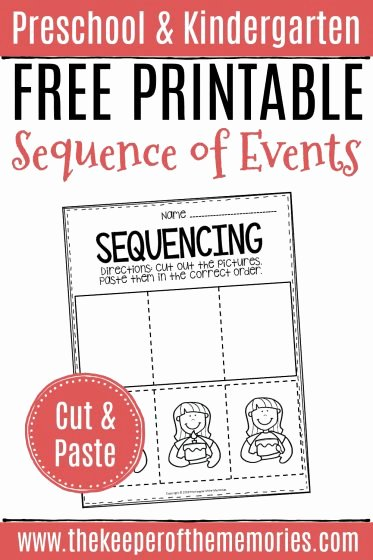 Sequencing Worksheets for Preschoolers Fresh Free Printable Sequence Of events Worksheets