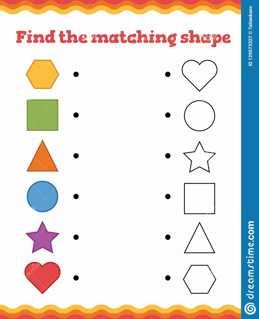 Shape Matching Worksheets for Preschoolers Fresh Worksheet Math Kindergarten Matching Worksheets for