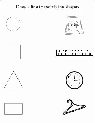 Shape Matching Worksheets for Preschoolers Lovely Worksheet Activity Worksheets for toddlers Shape Sheets