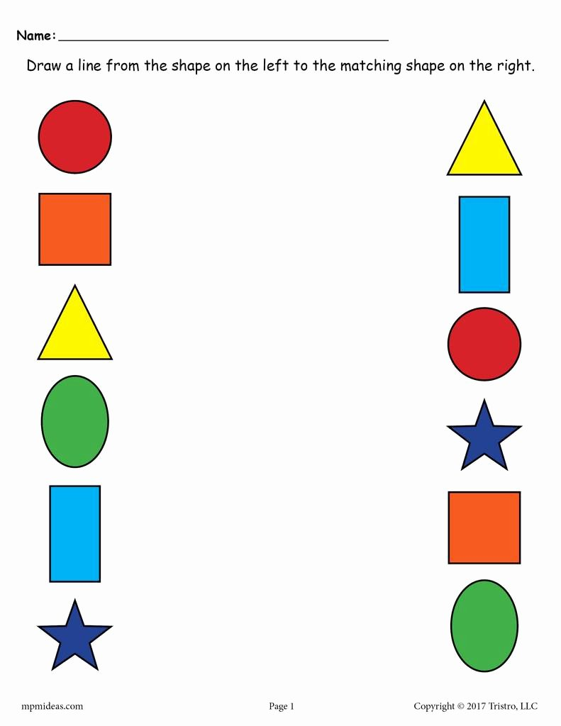 Shape Matching Worksheets for Preschoolers Unique Worksheet Shapes Matching Worksheets for Preschool