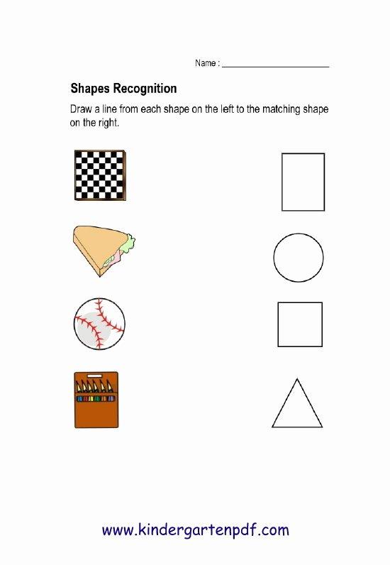 Shape Recognition Worksheets for Preschoolers Awesome Free Nursery Worksheets Shapes Recognition Worksheets for