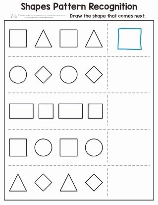 Shape Recognition Worksheets for Preschoolers Awesome Shapes Pattern Recognition for Kindergarten Itsybitsyfun