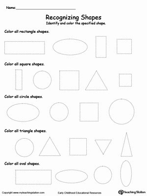 Shape Recognition Worksheets for Preschoolers Best Of Recognizing Shapes
