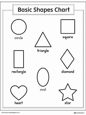 Shape Recognition Worksheets for Preschoolers Inspirational Basic Geometric Shapes Printable Chart