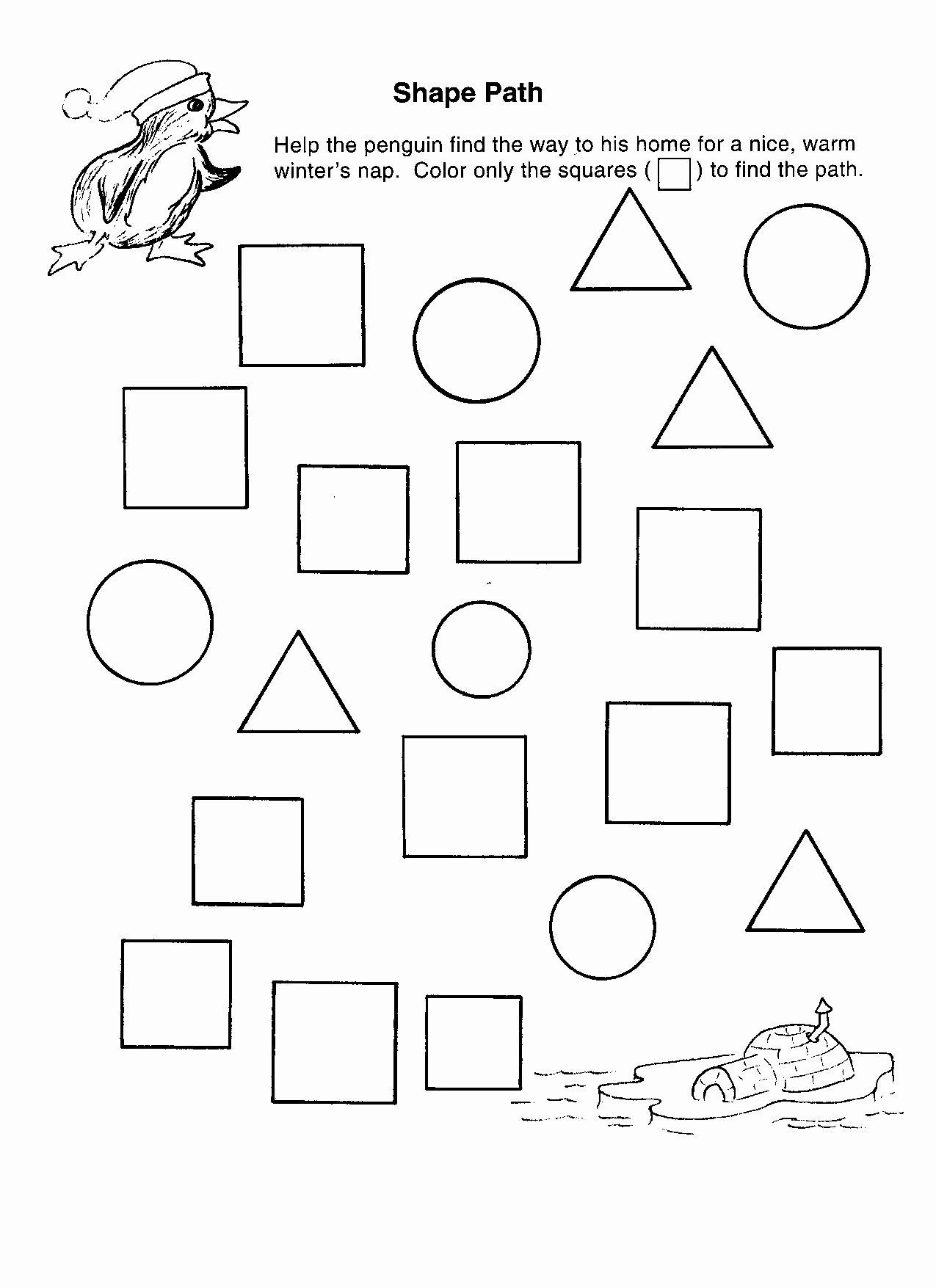 Shape Recognition Worksheets for Preschoolers Lovely Shape Recognition