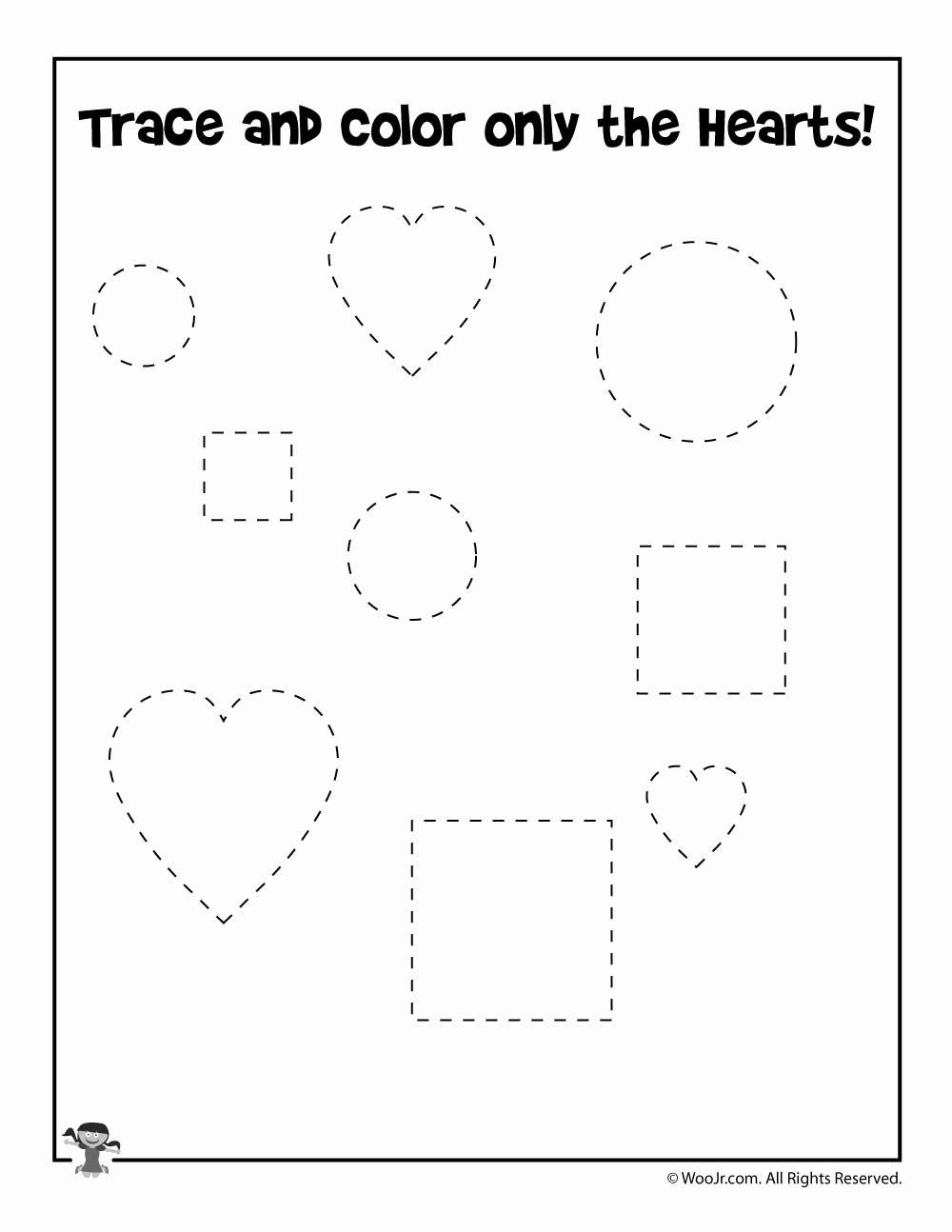 Shape Recognition Worksheets for Preschoolers Lovely Valentine Shape Recognition Worksheet