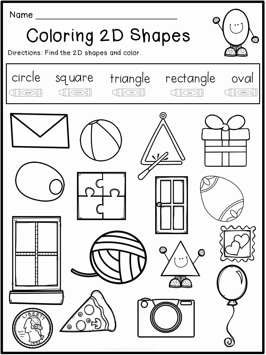 Shape Review Worksheets for Preschoolers Lovely Summer Review Free