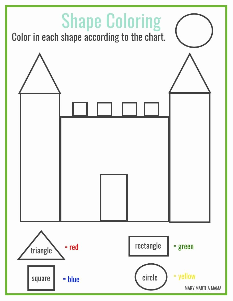 Shape Worksheets for Preschoolers New Shapes Worksheets for Preschool [free Printables] – Mary
