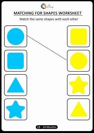 Shape Worksheets for Preschoolers top Download Free Matching Shapes Worksheets for 18 24 Months