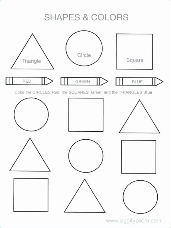 Shape Worksheets for Preschoolers top Square Worksheets for Preschool Shapes Math Fig High School