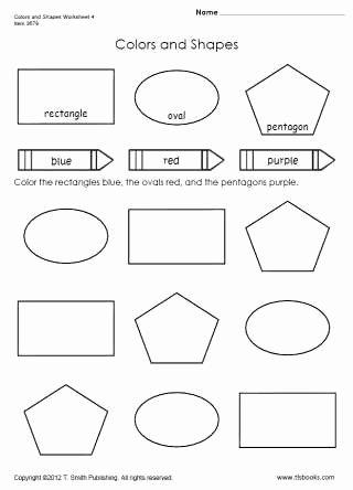 Shape Worksheets for Preschoolers Unique Colors and Shapes Worksheet 4
