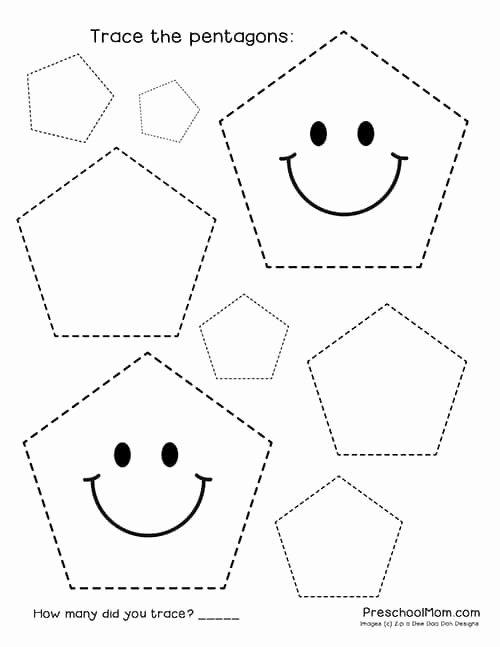 Shape Worksheets for Preschoolers Unique Shape Tracing Worksheets Preschool Mom