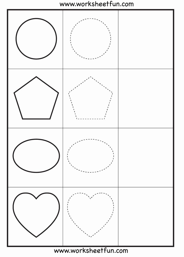 Shapes Tracing Worksheets for Preschoolers Inspirational Shapes Tracing – Worksheets