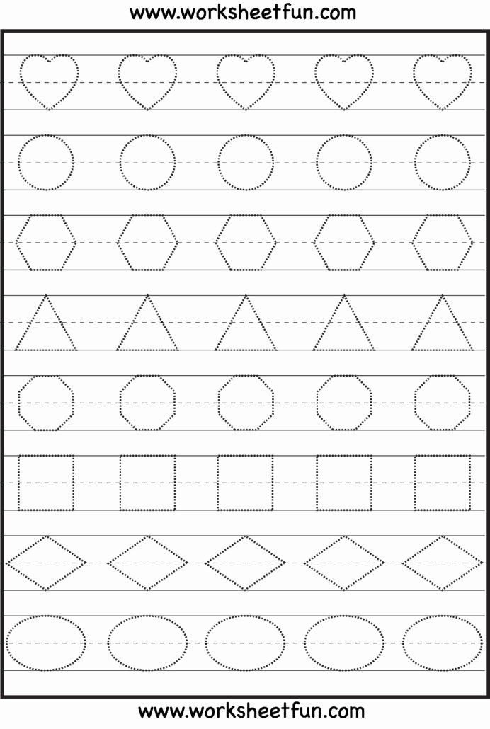 Shapes Tracing Worksheets for Preschoolers New Patterns Preschool Tracing Worksheets Learning Shape for