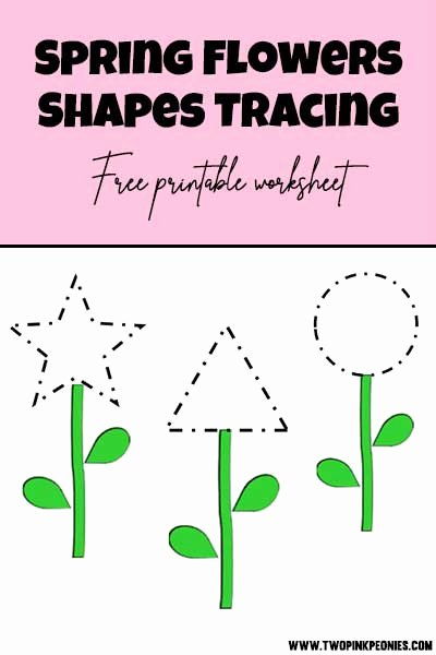 Shapes Tracing Worksheets for Preschoolers top totally Free Tracing Flowers Worksheet