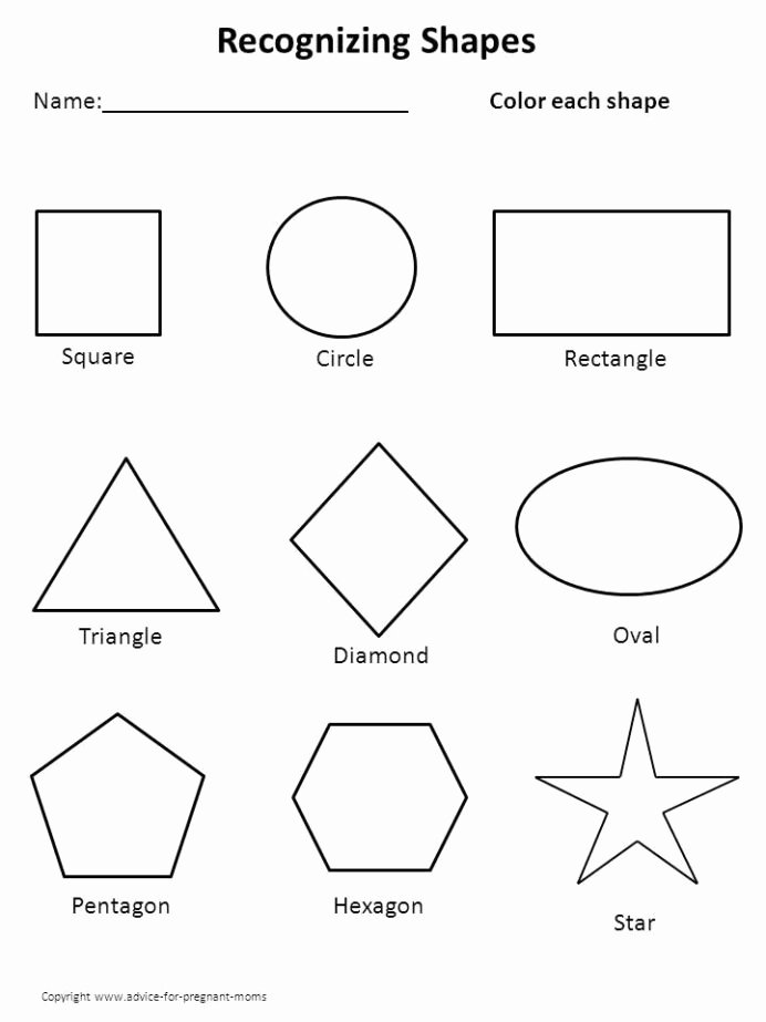 Shapes Worksheets for Preschoolers Awesome Worksheets for Preschool Shape Shapes Christmas Math Ks3