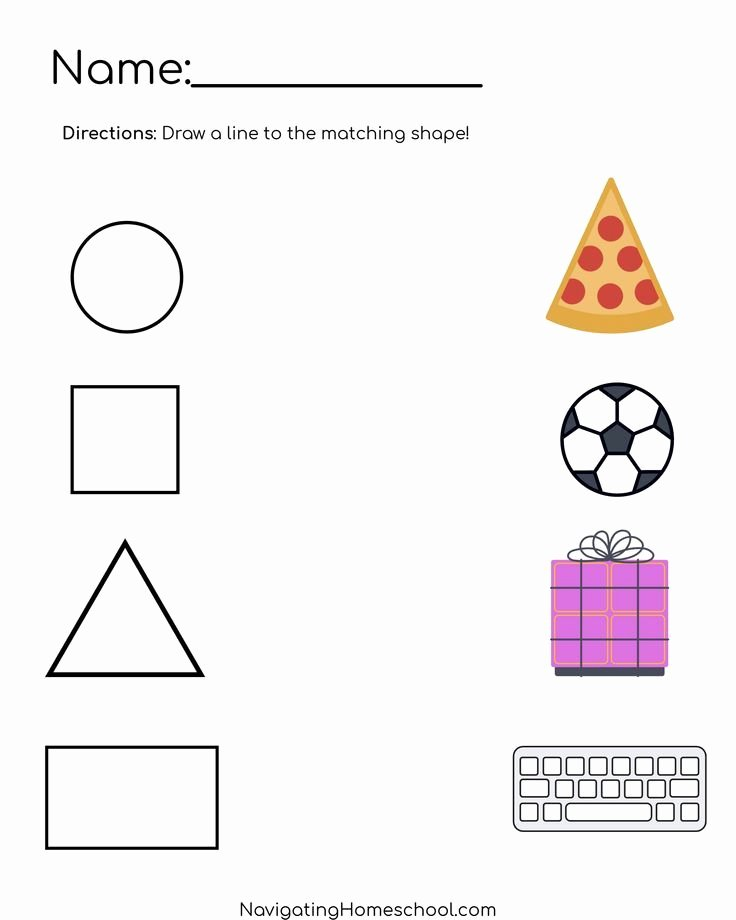 Shapes Worksheets for Preschoolers Beautiful Practice Shape Recognition with This Free Shape Worksheet
