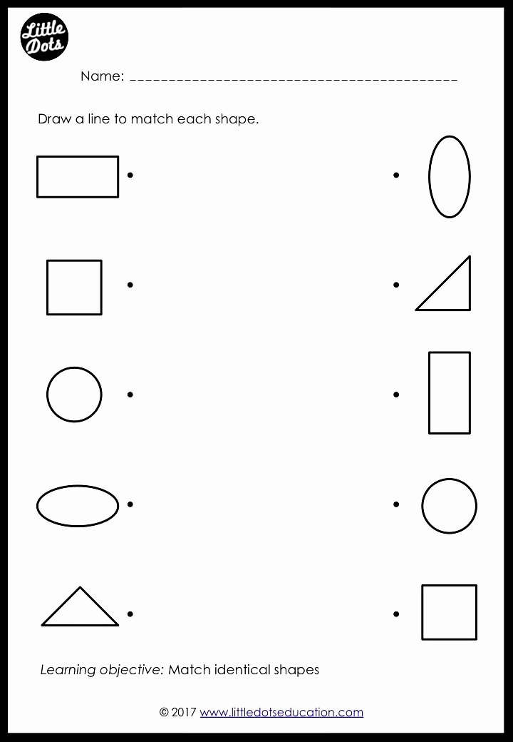 Shapes Worksheets for Preschoolers Lovely Preschool Shapes Matching Worksheets and Activities