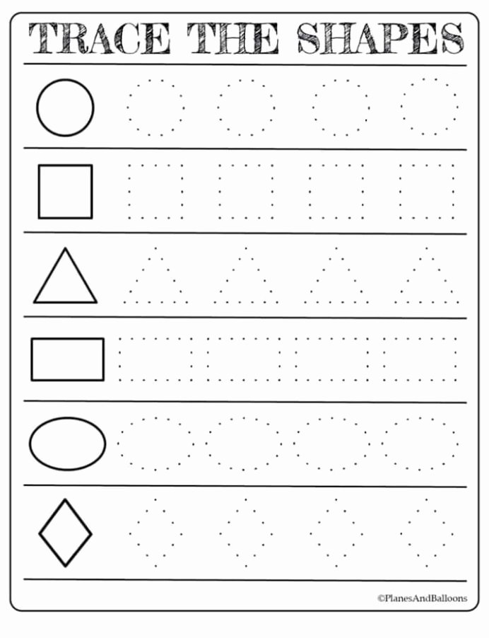 Shapes Worksheets for Preschoolers New Free Printable Shapes Worksheets for toddlers First Grade
