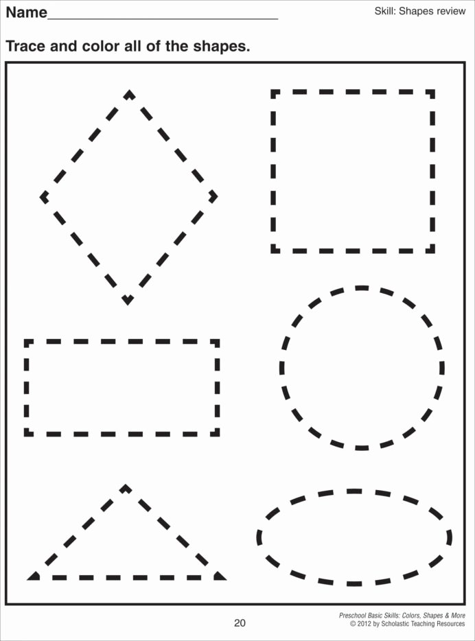 Shapes Worksheets for Preschoolers top Cutting Shapes Worksheets Kindergarten Preschool Printable