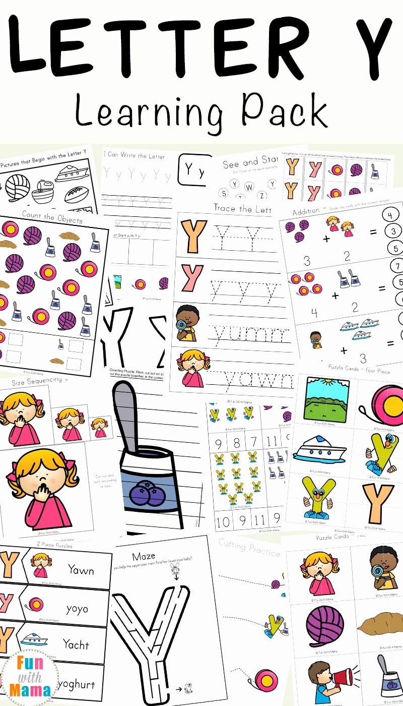 Sharing Worksheets for Preschoolers Awesome Letter Y Worksheets for Preschool Kindergarten Fun with Mama