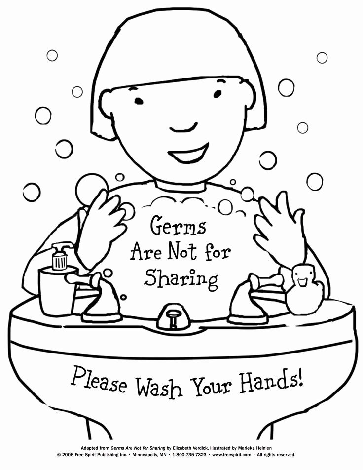 Sharing Worksheets for Preschoolers Inspirational Free Printable Coloring Page to Teach Kids About Hygiene
