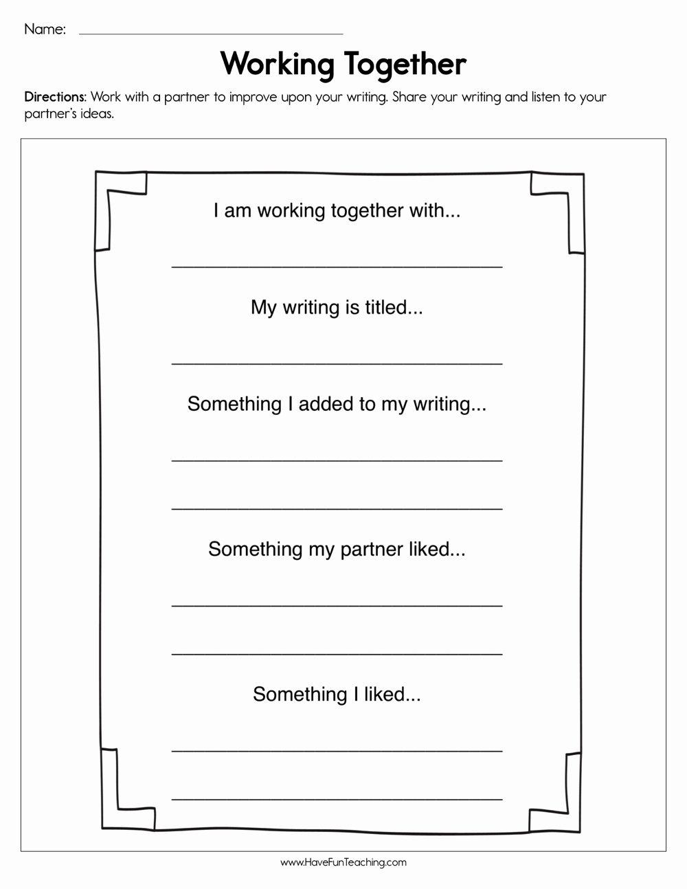 Sharing Worksheets for Preschoolers Inspirational Working to Her Worksheet