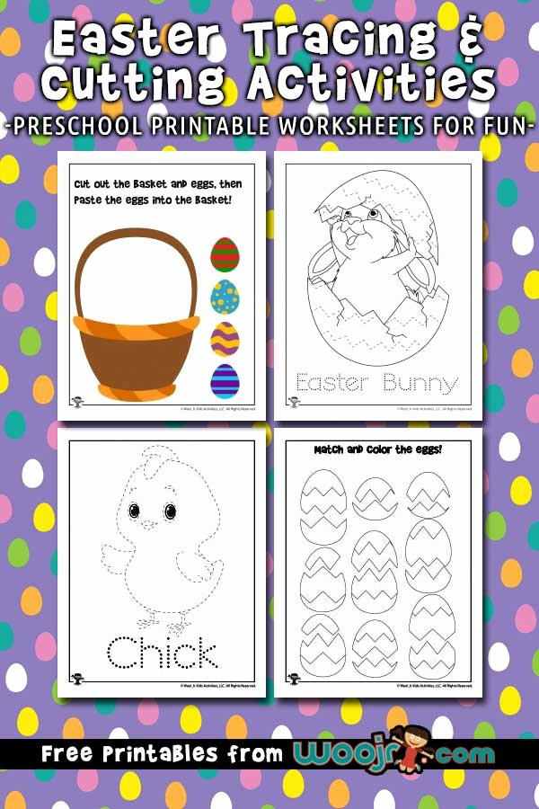 Sharing Worksheets for Preschoolers Unique Easter Tracing Worksheets and Printable Activities for Kids