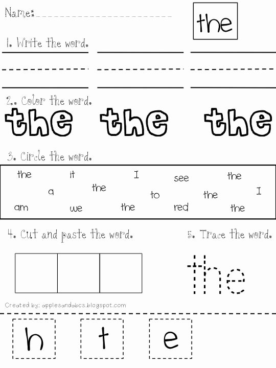 Sight Word Worksheets for Preschoolers Awesome Pin On Parenting because We Can All Use A Little Help