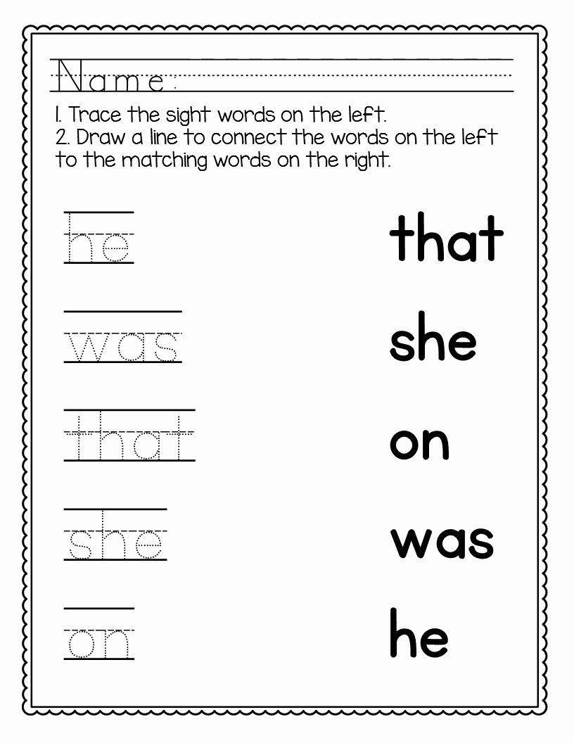 Sight Words Worksheets for Preschoolers Fresh Kindergarten Sight Words Worksheets [no Prep]