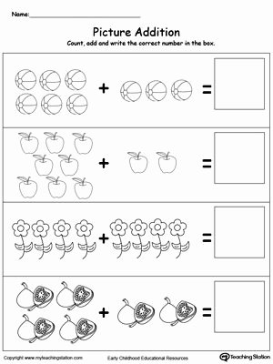 Simple Addition and Subtraction Worksheets for Preschoolers Inspirational Addition with Objects