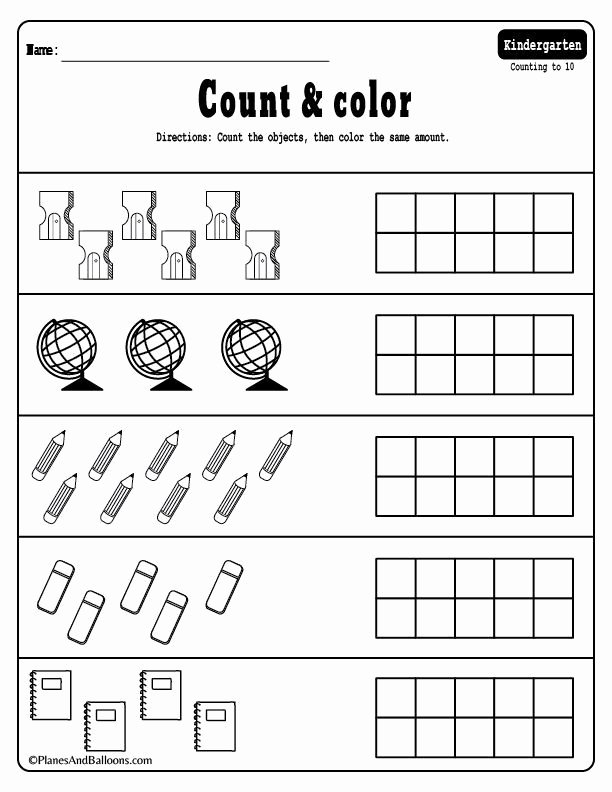 Simple Math Worksheets for Preschoolers Awesome Kindergarten Math Worksheets Pdf Files to for Free Easy