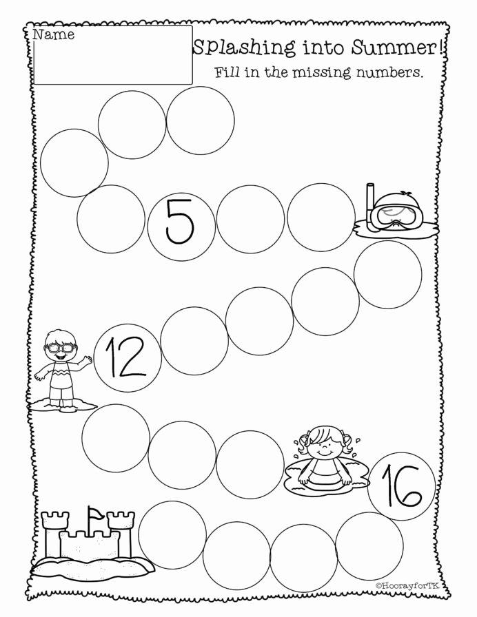 Simple Math Worksheets for Preschoolers Unique Printable Math Activities Kindergarten Practice Writing