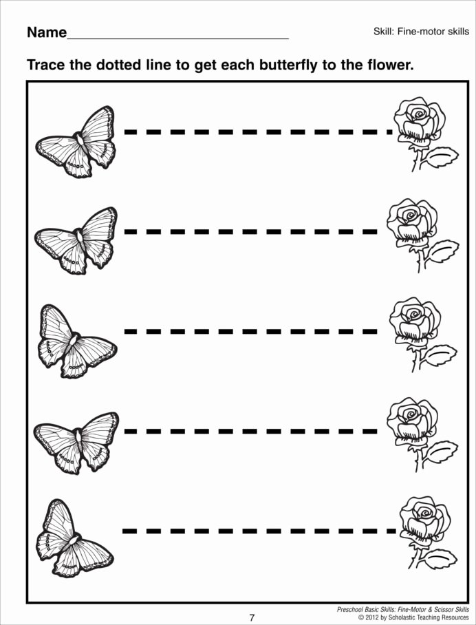 Simple Worksheets for Preschoolers Awesome Preschool Line Tracing Worksheets Pdf Worksheet Simple