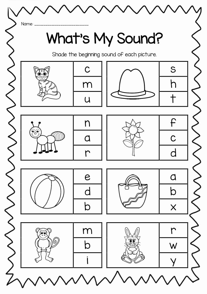 Simple Worksheets for Preschoolers Lovely Worksheet Beginning sounds Printable Worksheet Pack