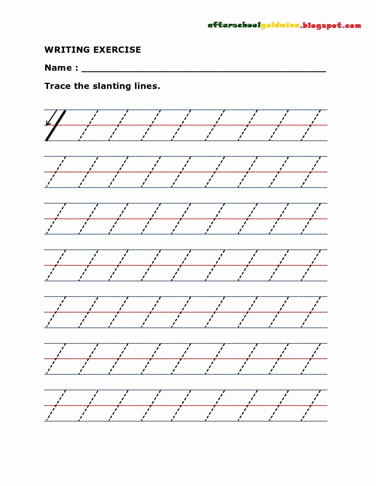 Slanting Lines Worksheets for Preschoolers Best Of Practice Writing Slanting or Diagonal Lines
