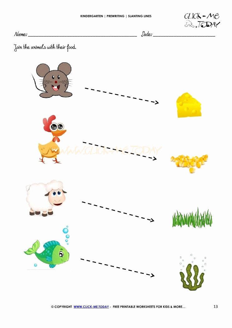 Slanting Lines Worksheets for Preschoolers Best Of Slanting Lines Worksheet 13