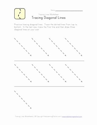 Slanting Lines Worksheets for Preschoolers Inspirational Tracing Slanted Lines