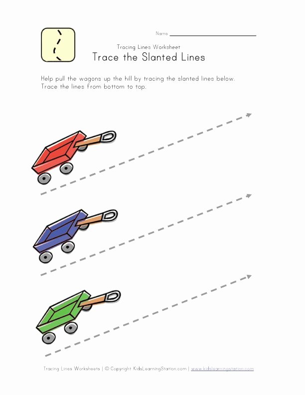 Slanting Lines Worksheets for Preschoolers Lovely Draw Diagonal Lines