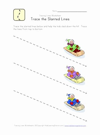 Slanting Lines Worksheets for Preschoolers New Tracing Lines Worksheet