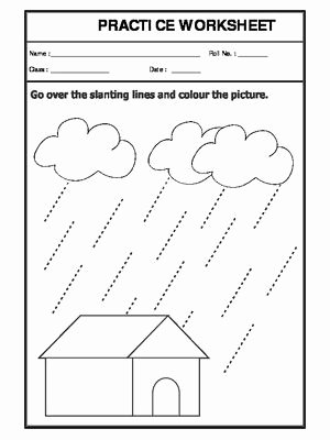 Slanting Lines Worksheets for Preschoolers top Worksheet Of Slanting Lines Pattern Writing English