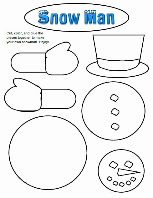 Snowman Worksheets for Preschoolers Fresh Winter Activities Games and Worksheets for Kids