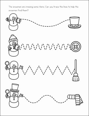 snowman line tracing